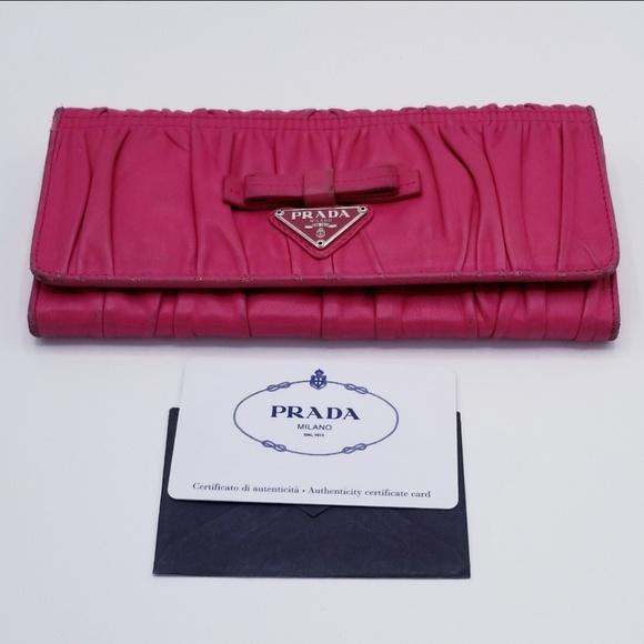 b4f1279acd6b Prada Bags | New List Nappa Bow Wallet | Poshmark